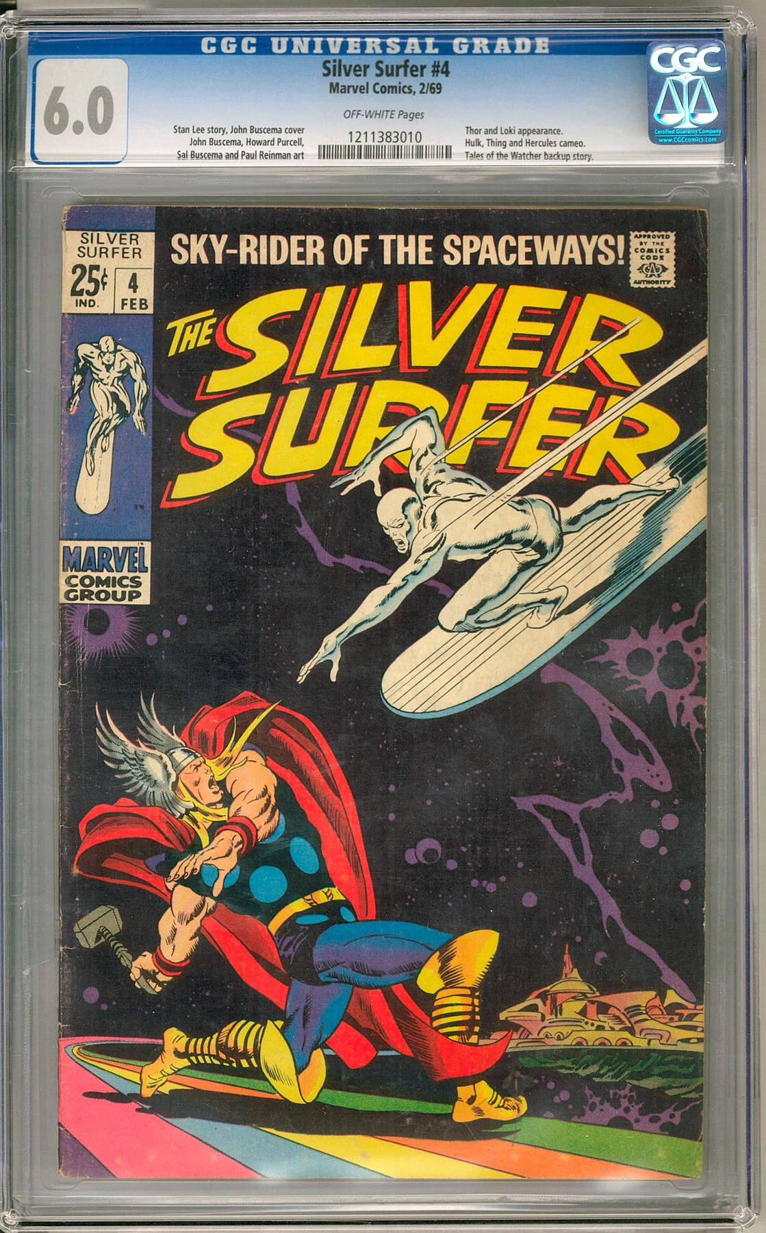 Silver Surfer 4 CGC 60 OW 1211383010