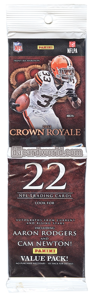2012 panini crown royale football value rack box 264 cards luck wilson rookies da card. Black Bedroom Furniture Sets. Home Design Ideas