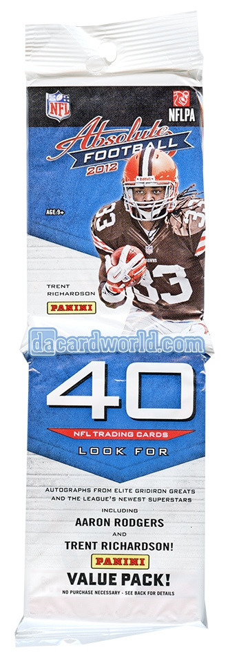 2012 panini absolute football value rack pack lot of 12 luck wilson rookies da card world. Black Bedroom Furniture Sets. Home Design Ideas
