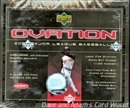 2001 Upper Deck Ovation Baseball Hobby Box