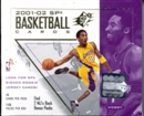 2001/02 Upper Deck SPx Basketball Hobby Box
