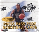 2002/03 Press Pass Basketball Hobby Box