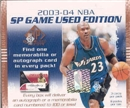 2003/04 Upper Deck SP Game Used Basketball Hobby Box