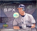 2004 Upper Deck SPx Baseball Hobby Box