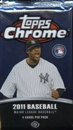 2011 Topps Chrome Baseball Hobby Pack