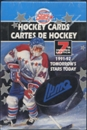 1991/92 7th Inning Sketch LHJMQ Tomorrows Stars Today Hockey Hobby Box