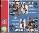 2001 Upper Deck Vintage Football Retail 24-Pack Lot