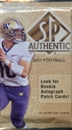 2011 Upper Deck SP Authentic Football Hobby Pack
