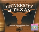 Image for  2011 Upper Deck University of Texas Football Hobby Box