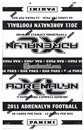 2011 Panini Adrenalyn XL Football Rack Pack Box