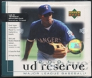2001 Upper Deck Reserve Baseball Retail Box