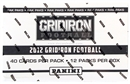 2012 Panini Gridiron Football Rack Pack Box (12 Packs) - WILSON & LUCK ROOKIES!