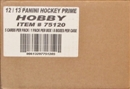 2011/12 Panini Prime Hockey Hobby 8-Box Case