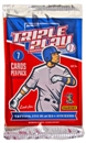 Image for  4x 2012 Panini Triple Play Baseball Retail Pack
