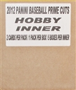 2012 Panini Prime Cuts Baseball Hobby 5-Box Case