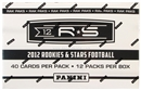 2012 Panini Rookies & Stars Football Rack Pack Box (12 Packs)
