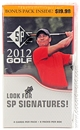 2012 Upper Deck SP Golf 8-Pack Box (10-Box Lot)
