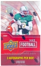 2012 Upper Deck Football Hobby Box