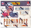 2013 Panini Prominence Football Hobby Pack