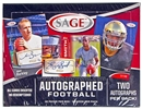 2013 Sage Autographed Football Hobby Box