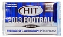 2013 Sage Hit High Series Football Hobby Pack