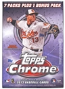 2013 Topps Chrome Baseball 8-Pack Box (One Bonus 4-Card Purple Refractor Pack Per Box)!