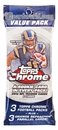 2013 Topps Chrome Football Value Pack (3 Packs + 3 Orange Parallels)