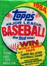 1984 Topps Baseball Wax Pack