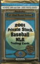 2001 Pacific Private Stock Baseball 24 Ct. Retail Pack Lot