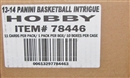 2013/14 Panini Intrigue Basketball Hobby 10-Box Case