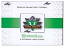 2014 Leaf Valiant Football Hobby Box