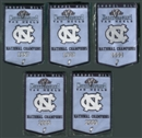 2010/11 Upper Deck UNC North Carolina Basketball Championship Mini-Banner Set of 5