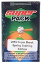 2015 Super Break Super 6 Pack Spring Training Edition Baseball Hobby Pack
