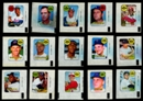 1969 Topps Baseball Decals Near Complete Set