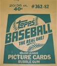 1987 Topps Baseball Wax 20-Box Case