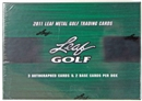 2012 Leaf Metal Golf Hobby Box