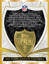 2013 Topps Supreme Football Hobby 16-Box Case (Presell)