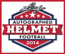 2014 Leaf Autographed Full-Size Helmet Football Hobby Box (Presell)