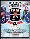 2014 Topps NFLPA Rookie Premiere Football Hobby 12-Box Case (Presell)