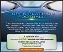 2014 Topps Platinum Football Hobby Box (Presell)