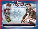 2014 Topps Chrome Mini Football Hobby 12-Box Case (Presell)