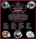 2015 Leaf Autographed Mini-Helmet Football Hobby 8-Box Case