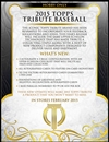 2015 Topps Tribute Baseball Hobby 8-Box Case (Presell)