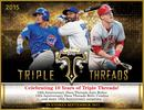 2015 Topps Triple Threads Baseball Hobby 18-Box Case (Presell)