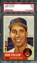 1953 Topps Baseball #54 Bob Feller PSA 7 (NM) *8929