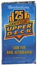 2014 Upper Deck 25th Anniversary Promotional Pack (Lot of 10)