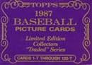1987 Topps Tiffany Traded & Rookies Baseball Factory Set