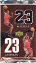 2x 2005/06 UD LeBron James/Michael Jordan Topper Pack