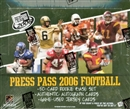 2006 Press Pass Football Hobby Box