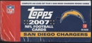 2007 Topps Football Factory Set (Box) (San Diego Chargers)